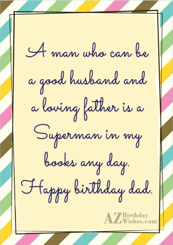 A man who can be a good husband and… - AZBirthdayWishes.com