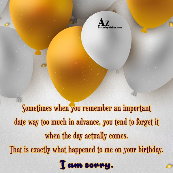 Sometimes when you remember an important date… - AZBirthdayWishes.com