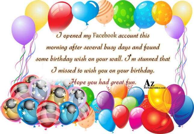 I opened my Facebook account this morning… - AZBirthdayWishes.com