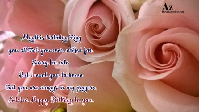 May this birthday bring you all that you… - AZBirthdayWishes.com