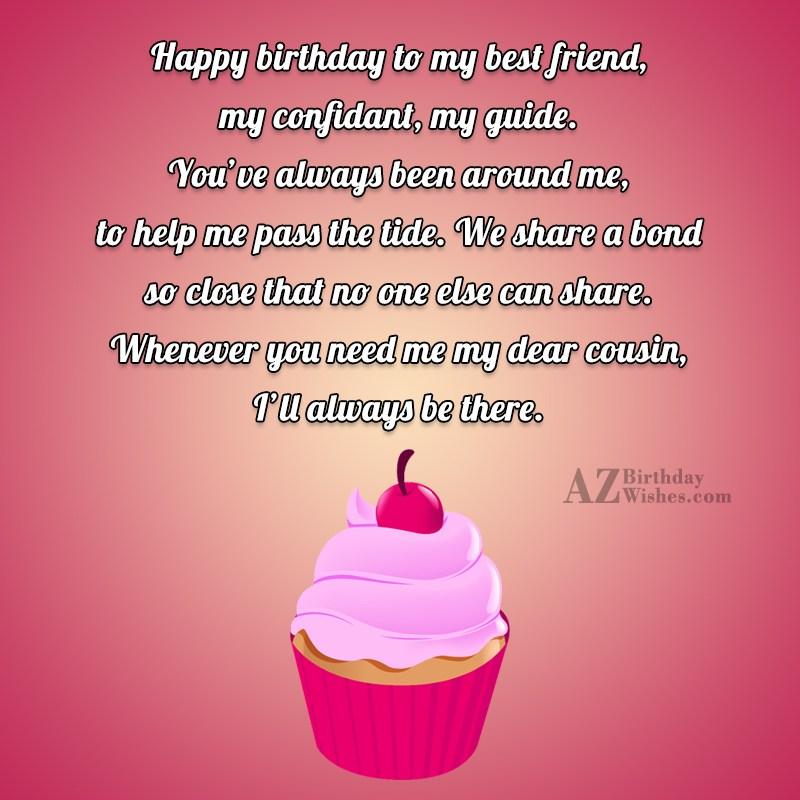 Happy Birthday To My Best Friend My Confidant My