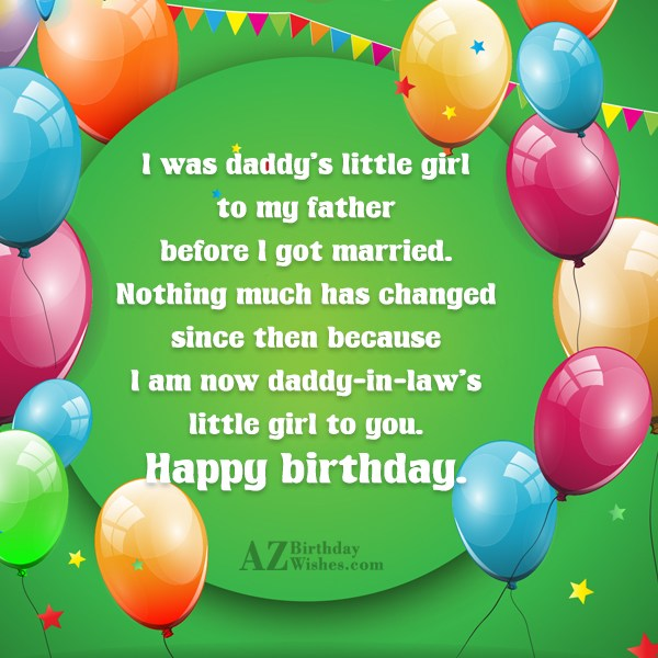 I was daddy s little girl to my father… - AZBirthdayWishes.com