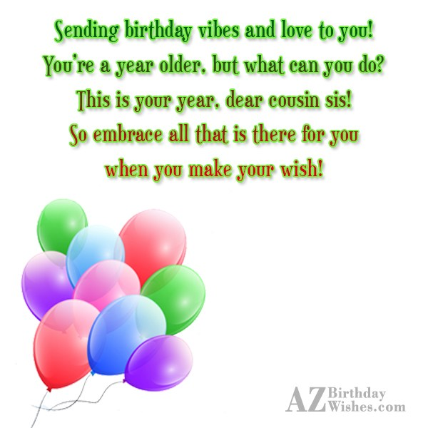 Sending birthday vibes and love to you You re… - AZBirthdayWishes.com