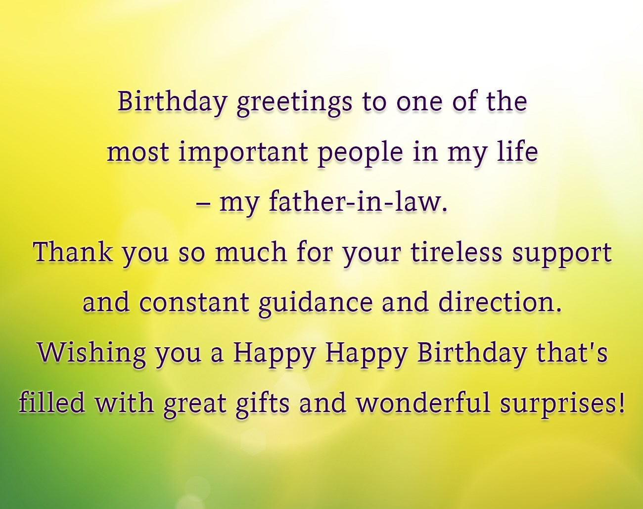 Birthday Greetings To One Of The Most Important People