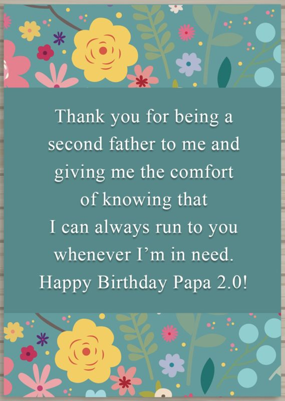 Thank you for being a second father to me… - AZBirthdayWishes.com