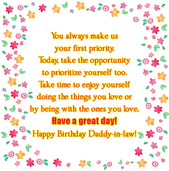 You always make us your first priority Today take… - AZBirthdayWishes.com