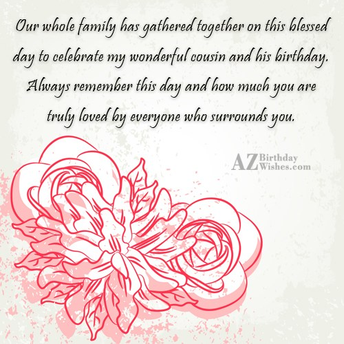 Our whole family has gathered together on this blessed… - AZBirthdayWishes.com