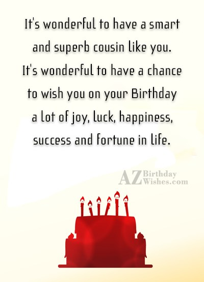 It s wonderful to have a smart and superb… - AZBirthdayWishes.com
