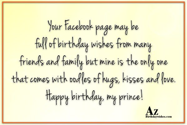Your Facebook page may be full of birthday wishes… - AZBirthdayWishes.com