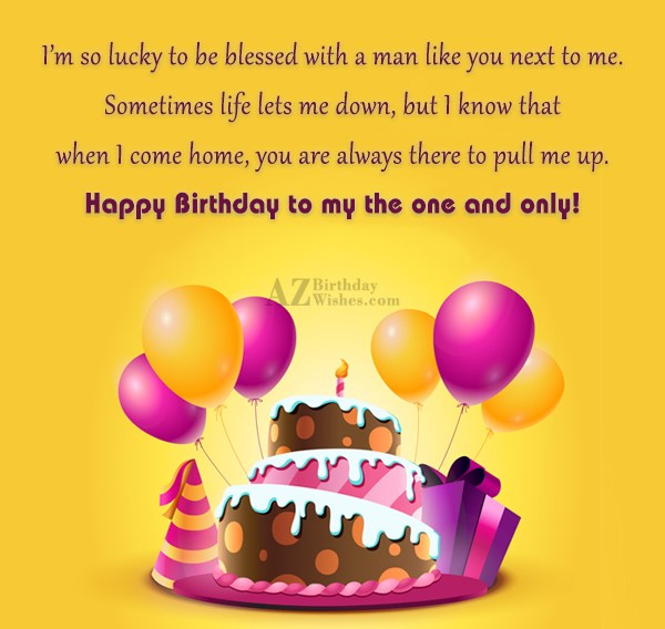 I m so lucky to be blessed with a… - AZBirthdayWishes.com