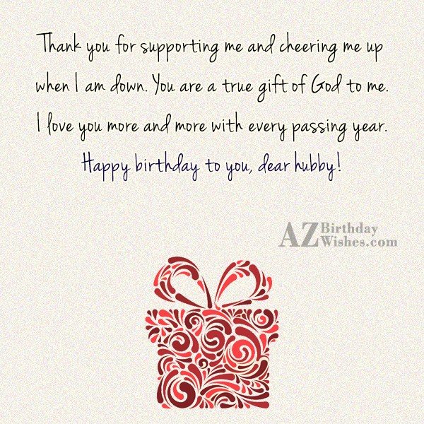 Thank you for supporting me and cheering me up… - AZBirthdayWishes.com