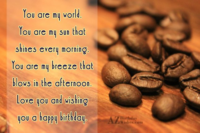 You are my world You are my sun that… - AZBirthdayWishes.com