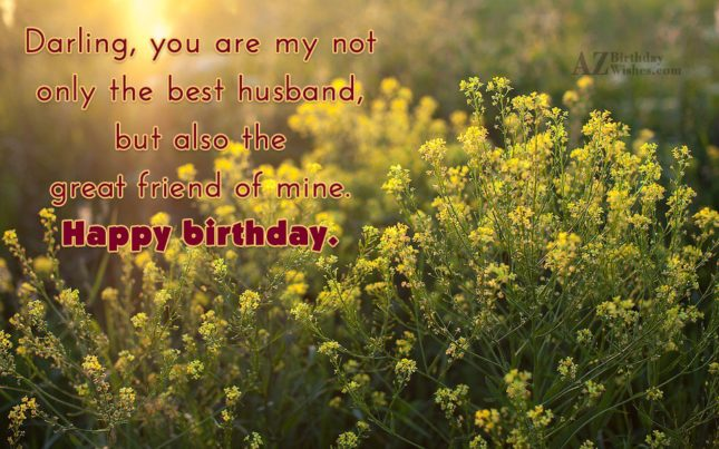 Darling you are my not only the best husband… - AZBirthdayWishes.com