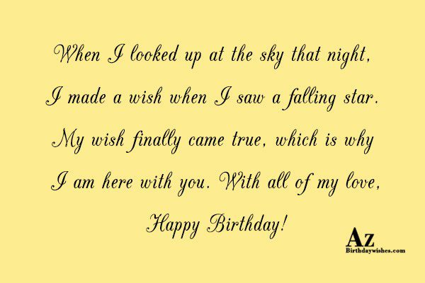When I looked up at the sky that night… - AZBirthdayWishes.com