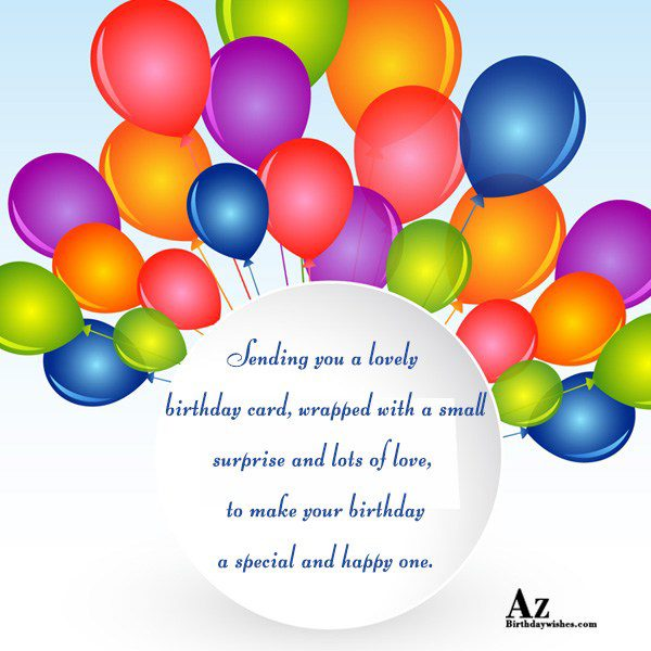 Sending you a lovely birthday card, wrapped with… - AZBirthdayWishes.com