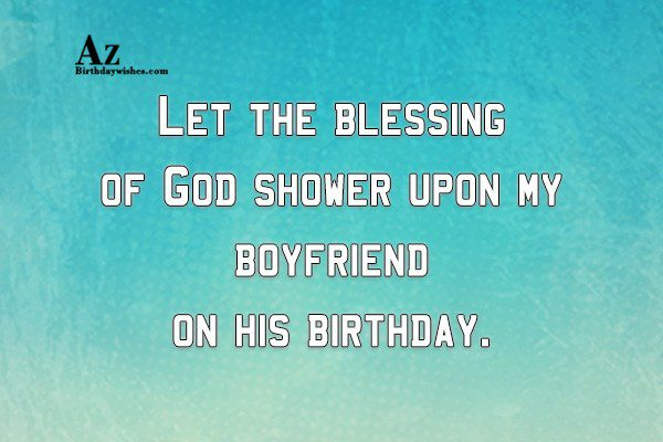 Let the blessing of God shower… - AZBirthdayWishes.com