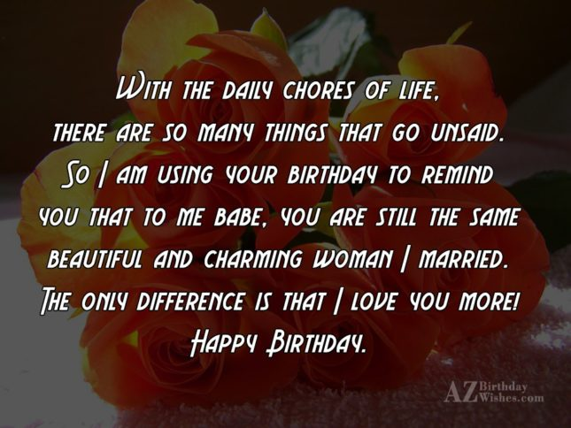 With the daily chores of life, there… - AZBirthdayWishes.com