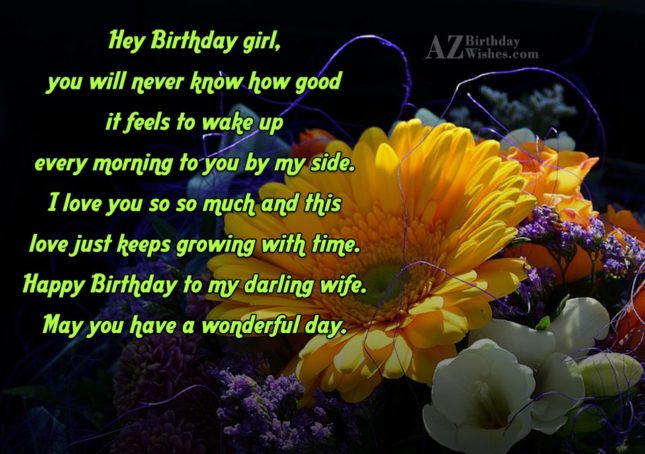 Hey Birthday girl, you will never know… - AZBirthdayWishes.com