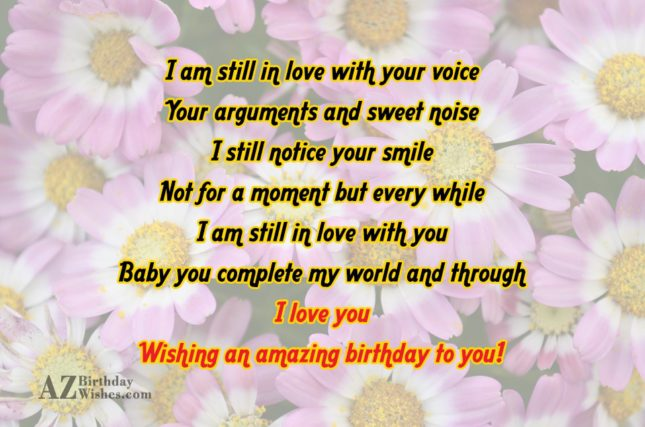 I am still in love with your… - AZBirthdayWishes.com