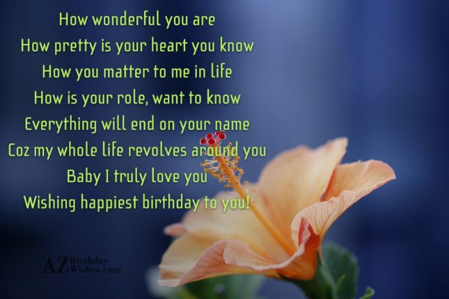 How wonderful you areHow pretty is your… - AZBirthdayWishes.com