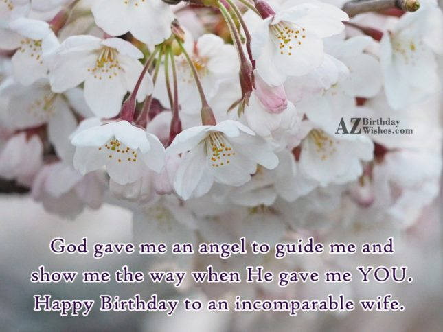 God gave me an angel to guide… - AZBirthdayWishes.com
