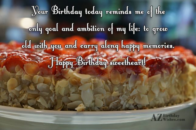 Your Birthday today reminds me of the… - AZBirthdayWishes.com