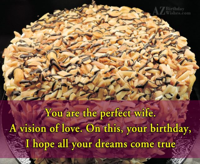 You are the perfect wife. A vision… - AZBirthdayWishes.com