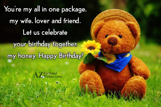 You're my all in one package, my… - AZBirthdayWishes.com