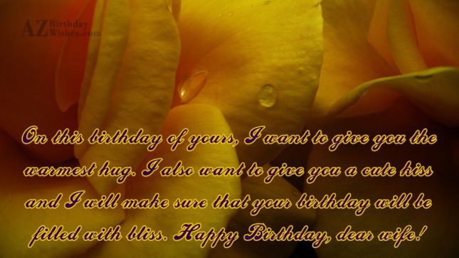 On this birthday of yours, I want… - AZBirthdayWishes.com