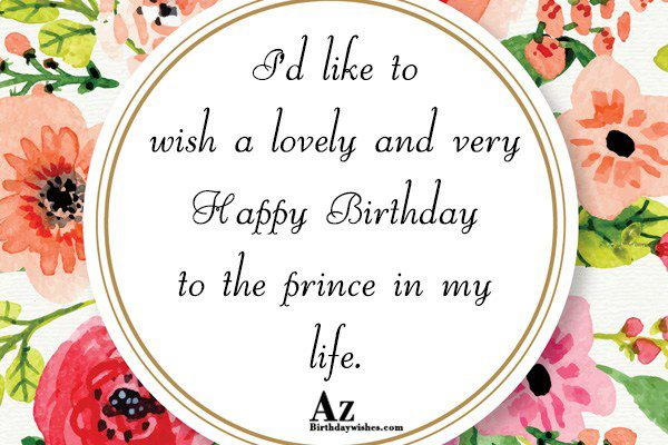 I'd like to wish a lovely and very Happy… - AZBirthdayWishes.com
