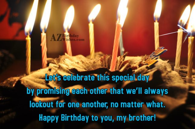 Let's celebrate this special day by promising… - AZBirthdayWishes.com