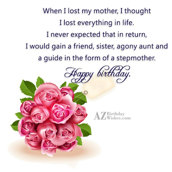 When I lost my mother, I thought… - AZBirthdayWishes.com