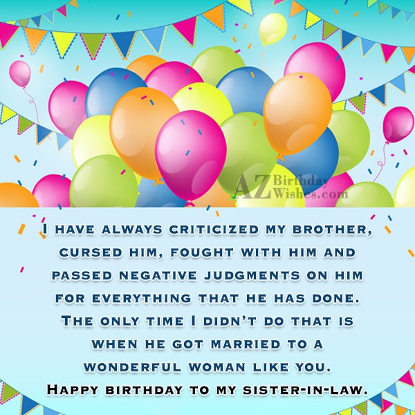 I have always criticized my brother, cursed… - AZBirthdayWishes.com