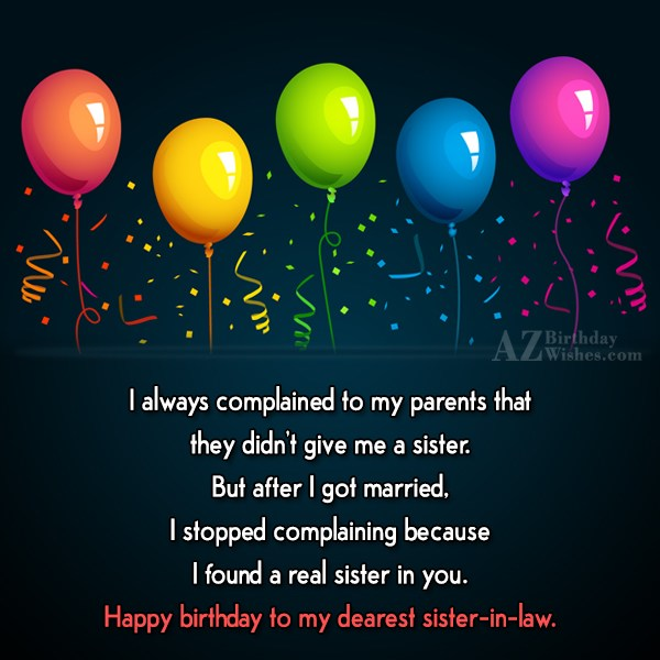 I always complained to my parents that… - AZBirthdayWishes.com
