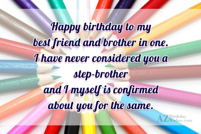 Happy birthday to my best friend and… - AZBirthdayWishes.com