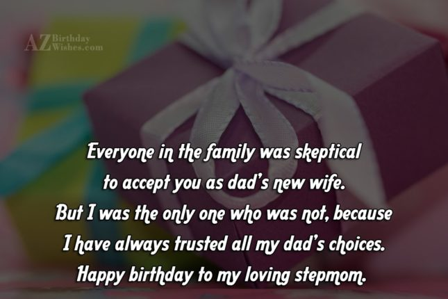 Everyone in the family was skeptical to… - AZBirthdayWishes.com