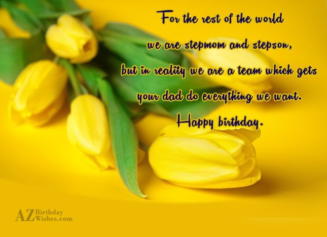 For the rest of the world we… - AZBirthdayWishes.com