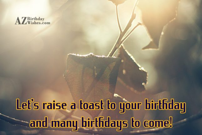 Let's raise a toast to your birthday… - AZBirthdayWishes.com