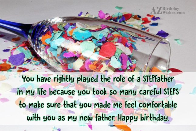 You have rightly played the role of… - AZBirthdayWishes.com