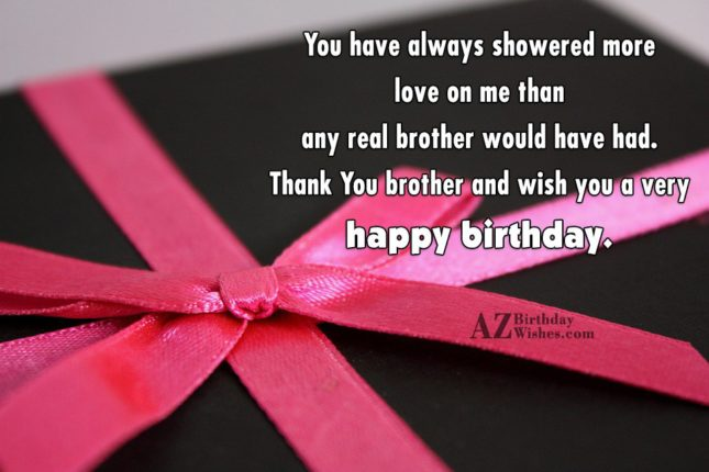 You have always showered more love on… - AZBirthdayWishes.com