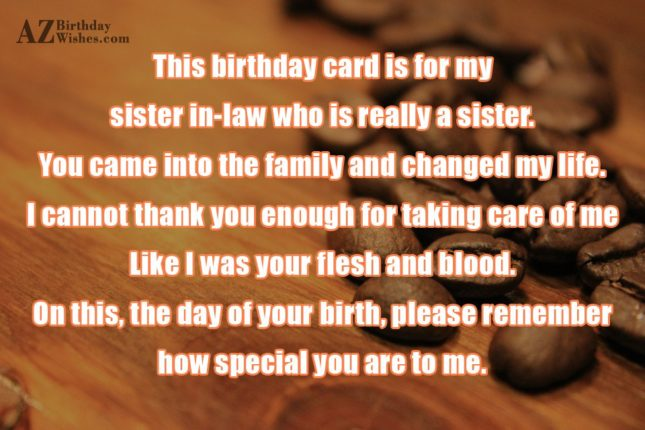 This birthday card is for my sister… - AZBirthdayWishes.com