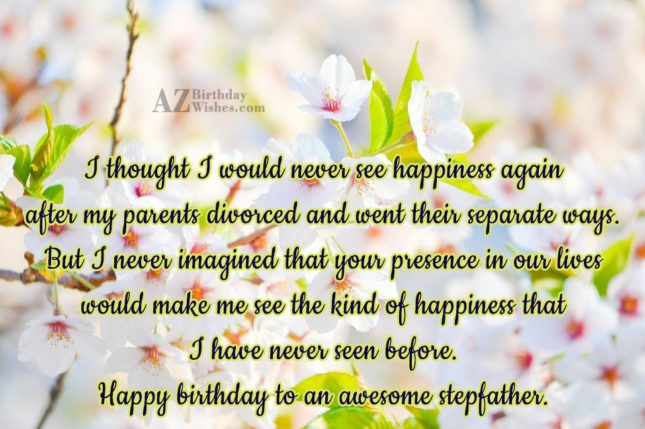 I thought I would never see happiness… - AZBirthdayWishes.com