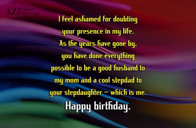 I feel ashamed for doubting your presence… - AZBirthdayWishes.com