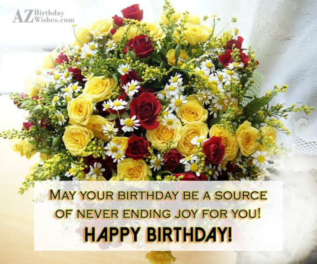 May your birthday be a source of… - AZBirthdayWishes.com