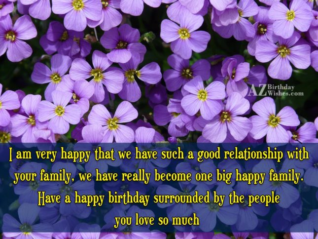 I am very happy that we have… - AZBirthdayWishes.com