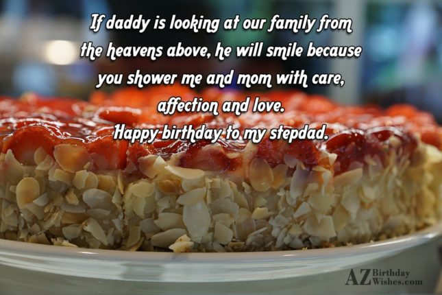 If daddy is looking at our family… - AZBirthdayWishes.com