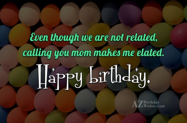 Even though we are not related, calling… - AZBirthdayWishes.com