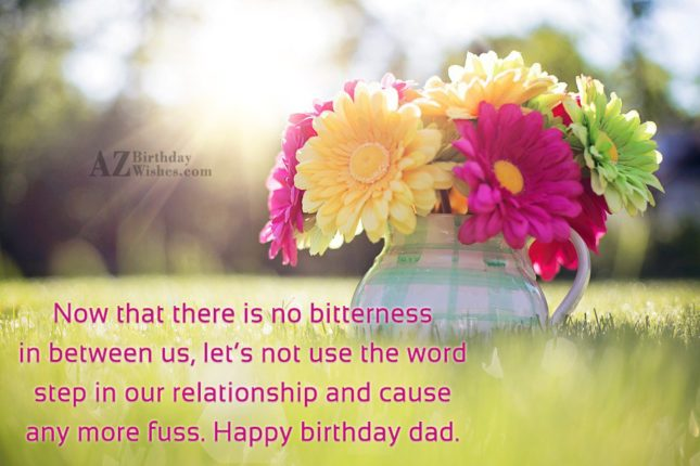 Now that there is no bitterness in… - AZBirthdayWishes.com