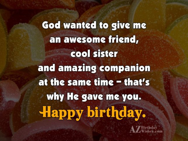 God wanted to give me an awesome… - AZBirthdayWishes.com