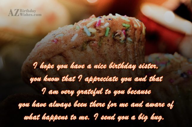 I hope you have a nice birthday… - AZBirthdayWishes.com